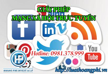cấp giấy phép thiết lập mạng xã hội